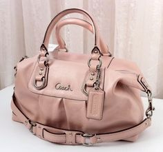 NWT Coach Ashley Leather Powder Pink Purse. I want this! But maybe in the creamy white! !