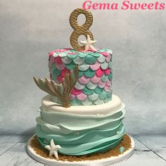 Image result for mermaid cake topper