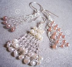 Wire crochet or wire knit - feminine, quick, lacy, and light weight!  What's not to like?!?!