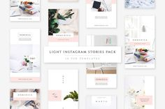 Light Instagram Stories Pack by Swiss_cube on @creativemarket Professional and Creative Stock Photos Bundle Packs in creative modern design style. Images are perfect for social media posts, blogs and website.