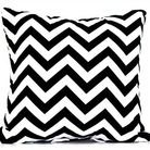 Black/white zigzag cushion