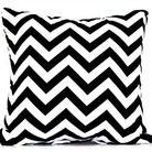 Black/white zigzag cushion