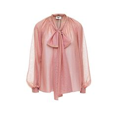 DIANA ARNO - Luisa Bow Blouse In Pink Chameleon