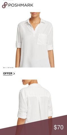 White blouse Bloomingdales white blouse. Brand: Side Stitch Los Angeles. Perfect, classic crisp white shirt. Made in the USA, machine washable. Bloomingdale's Tops Blouses