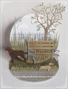 A walk in the park by Elly64 - Cards and Paper Crafts at SCS http://stampingwithbibiana.blogspot.com/