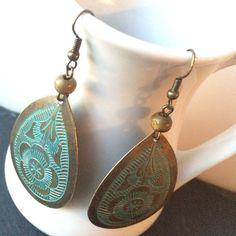 Bronze Teardrop Earrings · Giraffe Designs · Online Store Powered by Storenvy