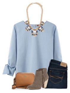 """""""Good Morning!☀️"""" by preppy-horsegirl ❤ liked on Polyvore featuring United Bamboo, Abercrombie & Fitch, Tory Burch, Forever 21 and Sole Society"""