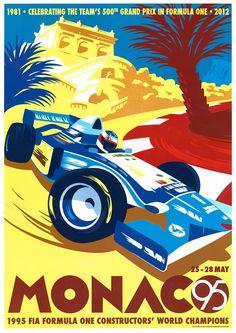 Monaco 1995 Gary Redford by Meiklejohn Illustration