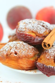PEACH NESTS WITH AMARETTI BISCUITS - There are so many ways to eat peaches but once you make this stuffed peaches recipe, it will become your go to summer dessert!