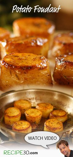 Melt in your mouth buttery chicken flavoured potatoes Potato fondant – Pommes De Terre Fondantes. Melt in your mouth buttery chicken flavoured potatoes French Appetizers, Fondant Potatoes, Buttered Cabbage, Wine Recipes, Cooking Recipes, Pan Fried Salmon, Classic French Dishes, Caramelised Apples, Foundant
