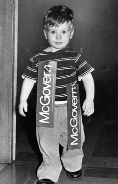Presidential hopeful George McGovern has young supporter in Omaha