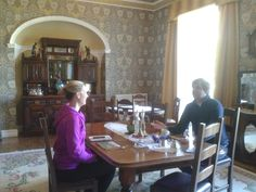 Guests at Breakfast in dining room