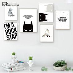 Cartoon Superheroes Batman Motivational Poster Quote Print Wall Art Canvas Painting Nursery Picture Baby Living Room Home Decor #walldecor #interiordesigner #homedecor #wallartprints #artdecor #artprint #canvasphotoprints #wallartdecor #wallpainting