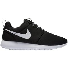 Nike Roshe One Women's Trainers ($76) ❤ liked on Polyvore featuring shoes, sneakers, black, traction shoes, grip shoes, grip trainer, light weight shoes and lightweight sneakers