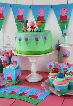 """If your child loves Peppa Pig, why not throw them a Birthday bash they will truly love and include these Top 10 """"Oinkingly"""" adorable Birthday Party Ideas. Peppa Pig Party Games, Fiestas Peppa Pig, Cumple Peppa Pig, Pig Birthday, 2nd Birthday Parties, Bolo Da Peppa Pig, Kids Party Themes, Party Ideas, Party Kit"""