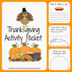 Home Grown Hearts Academy Homeschool Blog: FREE Thanksgiving Activity Packet