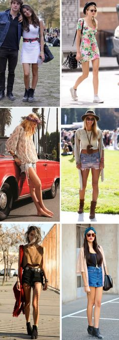 Festival fashion: Shorts, fringes  and boots always work! - Full page of good inspiration