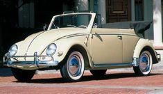 1957 Volkswagen Beetle convertible, part of the 1953-1979 Volkswagen Beetle line of collectible cars.