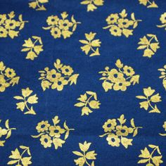 vintage 70s german cotton fabric featuring lovely by vintagevice, $12.00