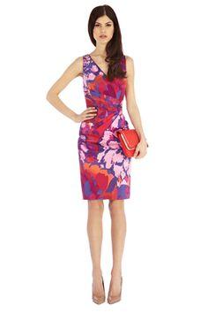 Sasumi purple print dress