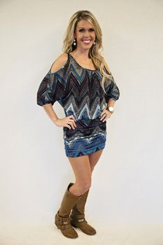 Shaina: Chevron Dress
