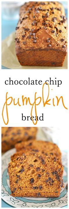 With a blend of chocolate, pumpkin, and fall spices, this Chocolate Chip Pumpkin Bread is a must for your fall baking list!