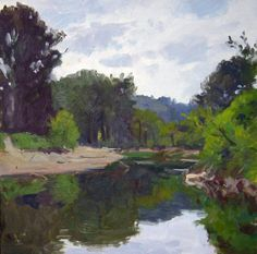 William E. Elston, Small Bend In The River, oil on panel, 12 X 12 inches, copyright ©2000