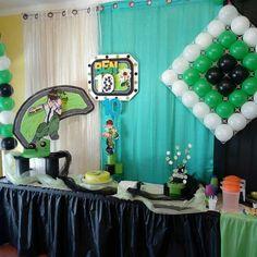 Festa do 10º aniversário do Vitor, cujo tema foi o Ben Ten.  Reserve agora a sua festa antes que esgote...