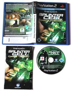 Tom Clancy's Splinter Cell: Chaos Theory für Playstation 2,PS3,in OVP!