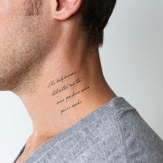 Realist - Temporary Tattoo (Set of Word Neck Tattoos, Back Of Neck Tattoo Men, Small Neck Tattoos, Small Tattoos For Guys, Face Tattoos, New Tattoos, Tatoos, Tattoo Cream, Tattoo Set