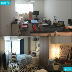 Studio Apartment Separate Sleeping Area nyc studio apartment makeover: diy installation of ikea kvartal