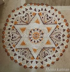 Inspired by the sunflower, The scorching sun and heat, The imperfections of nature Yet all together a beauty... A Kolam left to you to enjoy And have a great evening!! Free hand design kolam done b...