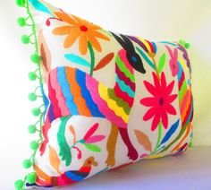 Otomi Tribal Pillow Cover 12X14 Inches by MexFabricSupplies