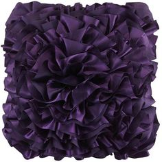 This pillow certainly adds flounce to a room. Layers upon layers of pretty petal-like folds and frills have created no ordinary wallflower. This texture-rich design is a flirty, eye-catching accent for your sofa, chair or loveseat.