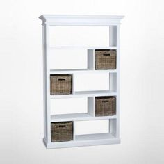 Easily divide a room while adding beauty and storage space to your decor with the Nova Solor Halifax Room Divider with Basket Set . White Furniture, Rustic Furniture, Semi Gloss White Paint, Rattan Basket, Baskets, Online Furniture Stores, Rustic White, Lowes Home Improvements, Furniture Collection