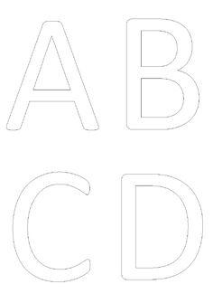 Des affiches avec les lettres en capitales pour découvrir, afficher, colorier...