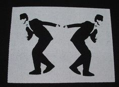 Ska ''two skankin' guys'' Patch $1.45 #punk #music #punkpatches #clothing www.drstrange.com