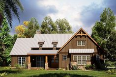 House Plan 8318-00170 - Craftsman Plan: 1,897 Square Feet, 4 Bedrooms, 2 Bathrooms Craftsman Farmhouse, Craftsman Style Homes, Modern Farmhouse Plans, Farmhouse Style, Barn Style House Plans, Floor Plans, Square Feet, Barn Homes, Barn Style Homes