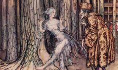 Fitcher's Bird is among dozens of Brothers Grimm fairy tales, here illustrated by Arthur Rackham. Photograph: Classic Image/Alamy