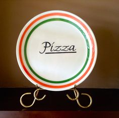 Vintage Villaware Italian Pizza Plate by IveGoneModVintage on Etsy, $8.00