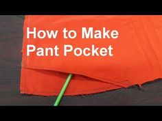 How to make pant pocket, Front pocket making for a pant Measurement: Pocket Opening at waist inch, Opening at side seam 7 inch, inside Pocket bag Length Sewing Pants, Sewing Clothes, Dress Sewing Patterns, Clothing Patterns, Plazzo Pants, Harem Pants, Sewing Collars, Sewing Pockets, Pocket Pattern