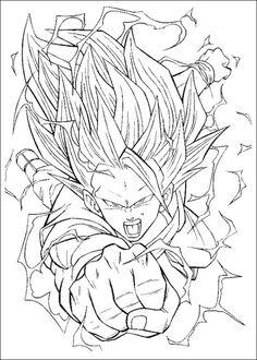 Desenhos para colorir para crianças. Desenhos para imprimir e colorir Dragon Ball Z 95