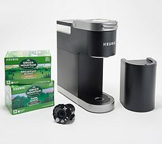 Keurig K-Mini Plus Coffee Maker withMy K-cup& Keurig Storage, K Cup Storage, Cord Storage, Keurig Mini, Brew Your Own, Drip Tray, K Cups, Chinese Restaurant, Brewing
