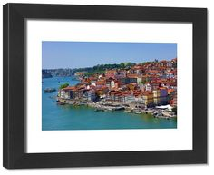 inch mm) wooden frame with digital mat and print (other products available) - View of the town and River Douro in Porto, Portugal - Image supplied by Prints Prints Prints - Framed Print made in the USA Poster Prints, Framed Prints, Canvas Prints, Douro, Photo Gifts, Fine Art Prints, Portugal, River, Wall Art