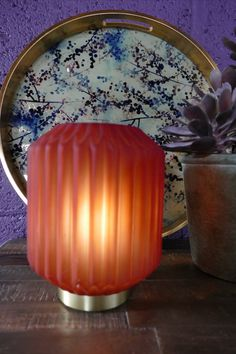 Glass Table Lamp, Table Lamp, Candles, Table, Battery Operated Lamps, Coral Table, Dressing Your Table, Table Top, Glass Table
