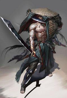 scifi-fantasy-horror: by HEE Fantasy Concept Art, Fantasy Character Design, Dark Fantasy Art, Character Design Inspiration, Character Concept, Painting Inspiration, Character Art, Arte Ninja, Ninja Art