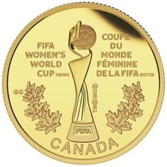 Beautiful Gold Coin: 2015 $75 Pure Gold Coin FIFA Women's World Cup TM/MC: The Trophy....