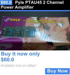 Amplifiers and Preamps: Pyle Ptau45 2 Channel Power Amplifier BUY IT NOW ONLY: $60.0