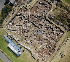 An overview of the main trench at the Ness of Brodgar - image by Hugo Anderson Whymark