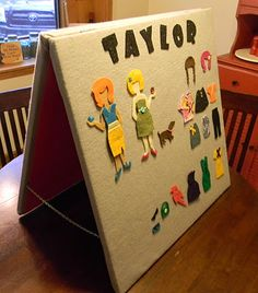 i used to love felt boards when I was a kid. . .this one's easy to make too!